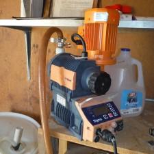 Existing Sodium Hypochlorite disinfection pump