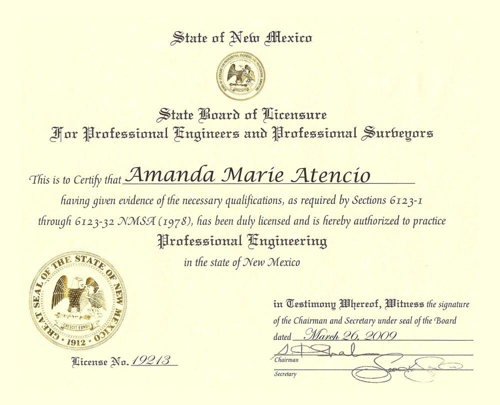 Amanda M Atencio Pe Cfm Atencio Engineering Inc